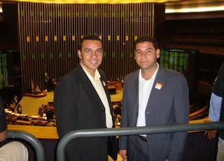 Sargento Prado e Sargento Araújo na Câmara dos Deputados em Brasília