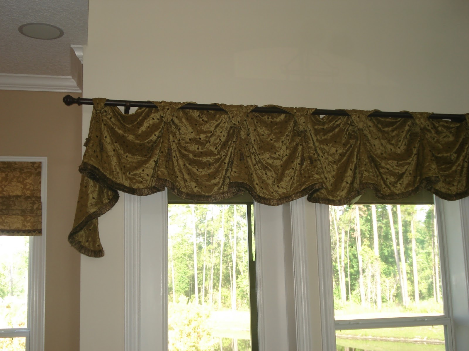 Custom window treatments custom valances for Window valance