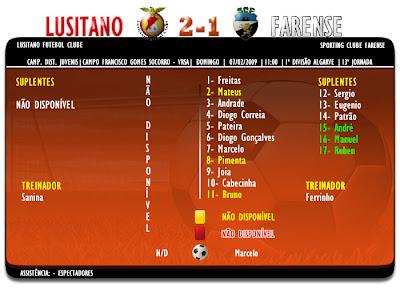 Juvenis  Lusitano 2-1 Farense