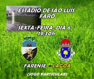 Farense e Lagoa disputam jogo particular amanhã em Faro, no Estádio de São Luís pelas 19:30 horas