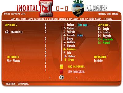 Campeonato Distrital Juvenis Algareve  Imortal 0-0 Farense  1ª Jornada