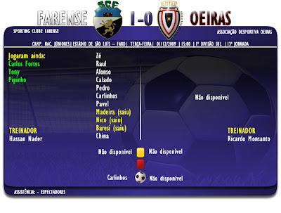 Farense 1-0 Oeiras | 13ª Jornada