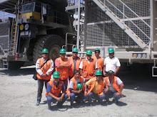 Compañeros de la guardia Nº 2 de Operaciones Mina Toquepala donde nació nuestro Sindicato