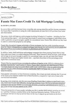 NY Times predicts 2008 bank failures