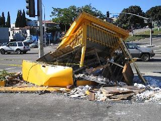 junk on a city corner