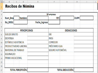 Sistema de n mina empresarial 2o examen parcial copia for Nomina word