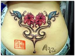 Flower tattoo in body
