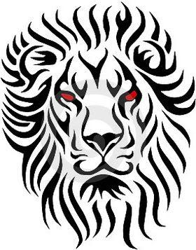 Tribal Lion Tattoo Drawings