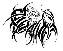 Tattoo Tribal lion Art Design