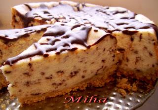 Tarta cu branza si ciocolata