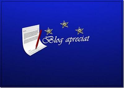 """Premiul """"Blog apreciat"""""""