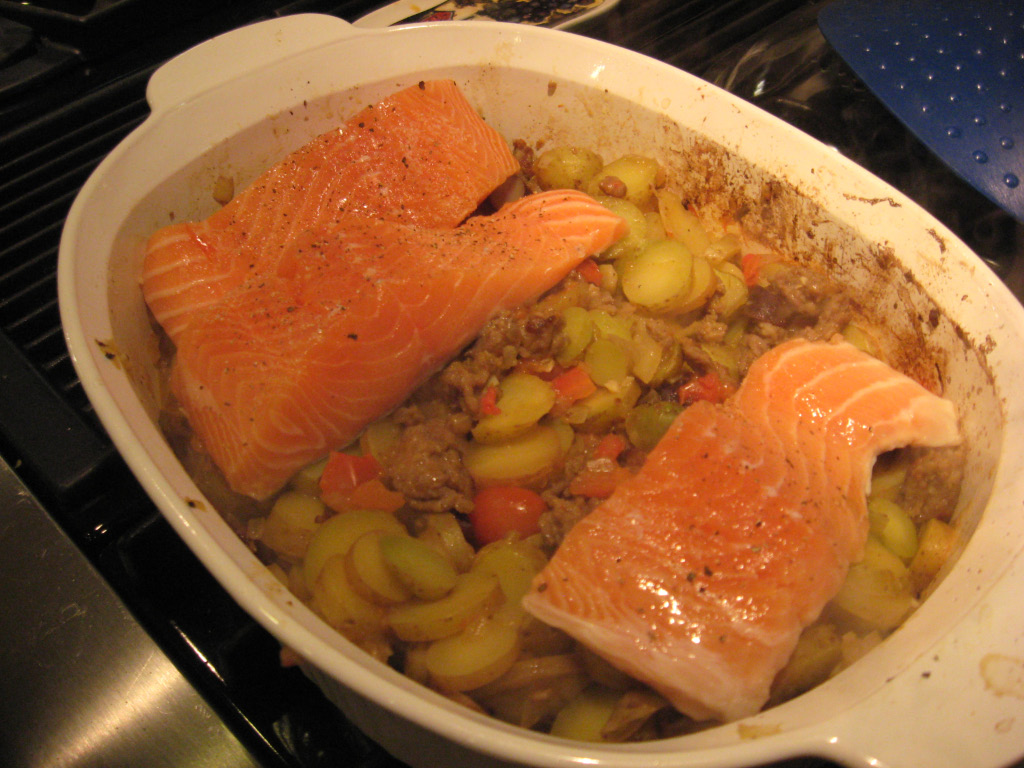 Be A Better Cook: One Pot Sausage, Potato and Salmon