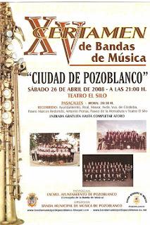 Cartel anunciador del XV Certamen de Bandas de Música 'Ciudad de Pozoblanco'