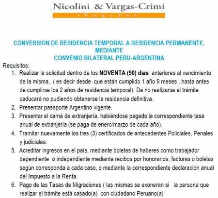 REQUISITOS PARA EL CAMBIO DE CALIDAD MIGRATORIA POR EL CONVENIO