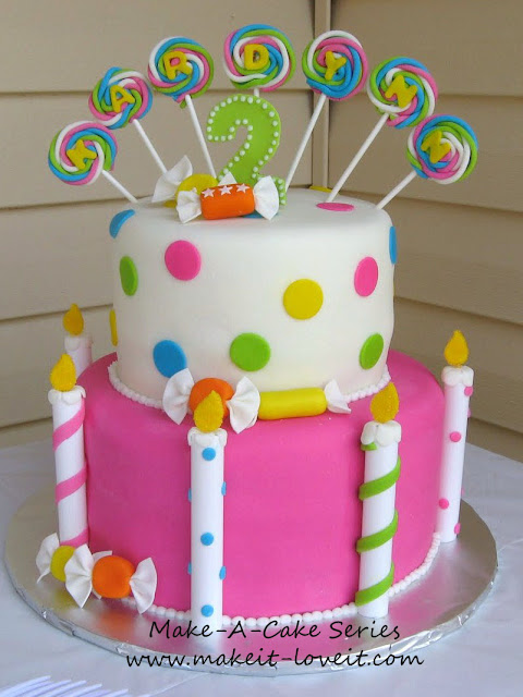 birthday cakes made with candy