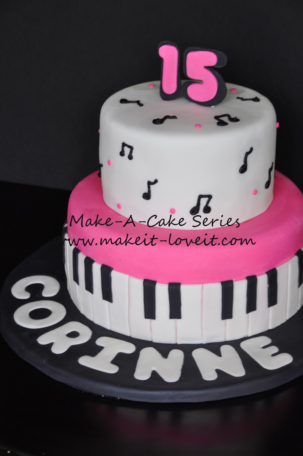 MakeaCake Series Music Cake Make It and Love It