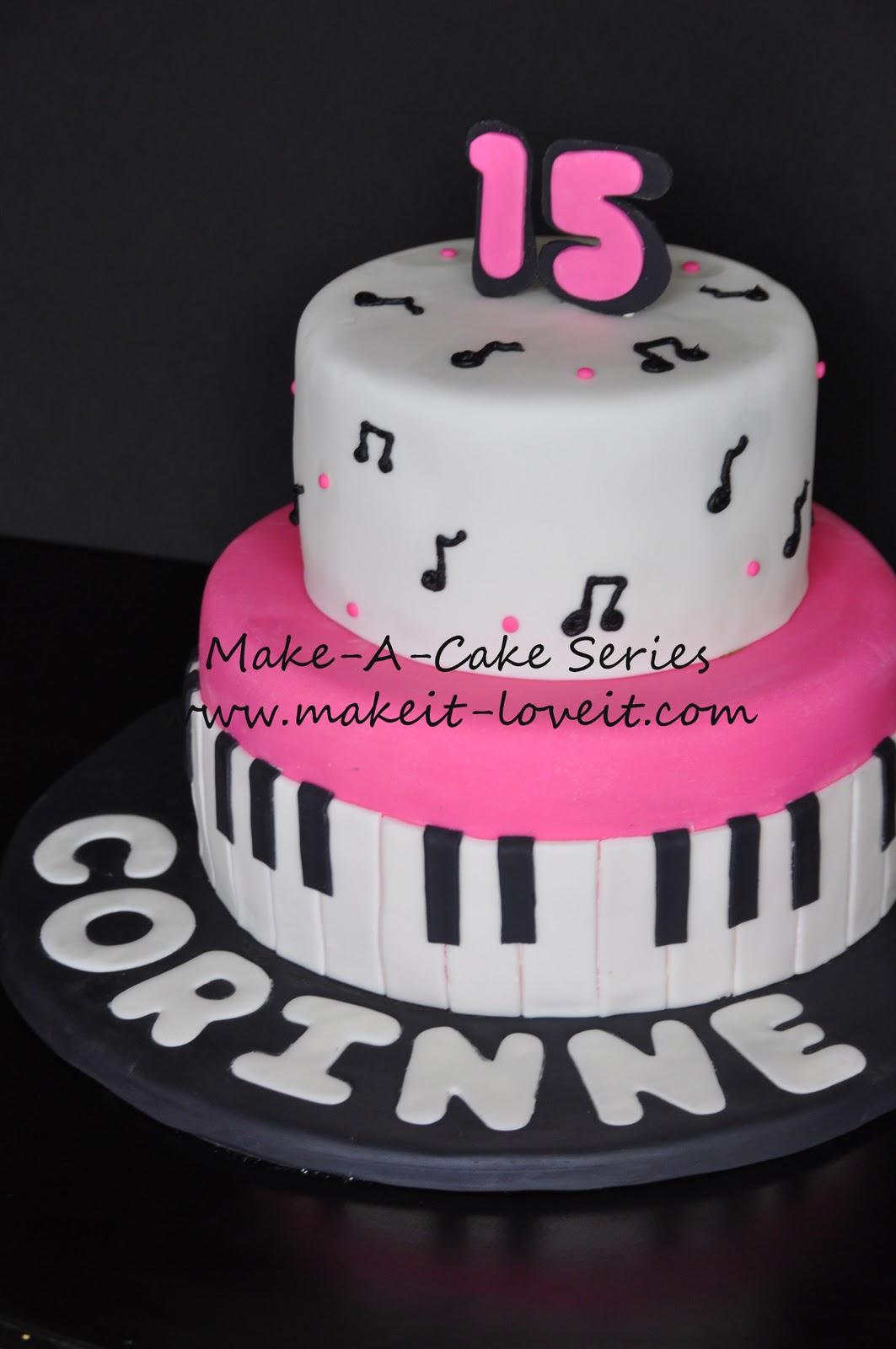 Make a cake series music cake