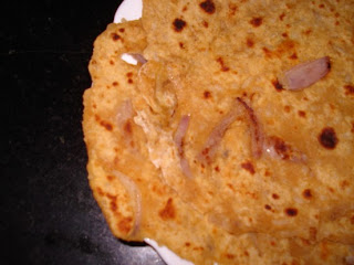 LeftoverRiceParathas1 Leftover Rice Paratha   Chawal ki Roti