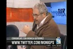 Con Mendieta, Gabriel Cerrutti y Pablo Sirven en el Programa de Mónica Gutierrez