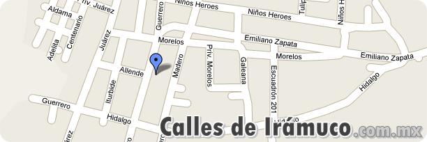 Mapa de las calles de Iramuco, Guanajuato -http://iramucogto.com