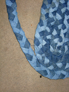 From That Point Forward I Sew A Few More Strips On Finish The Edges Braid Little And New Lenth Of Onto Rug