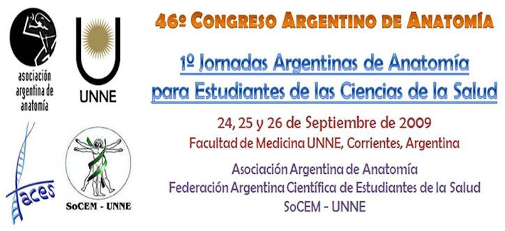 1º Jornadas Argentinas de Anatomía para Estudiantes de las Ciencias de la Salud