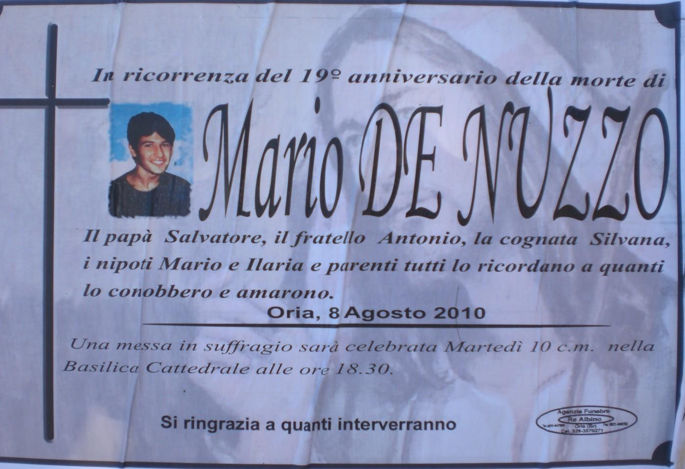 Amato ORIA - Oggi 10 agosto - Messa in suffragio di Mario De Nuzzo. II76