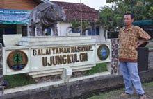 Suherman : Di depan Kantor Balai Taman Nasional Ujung Kulon