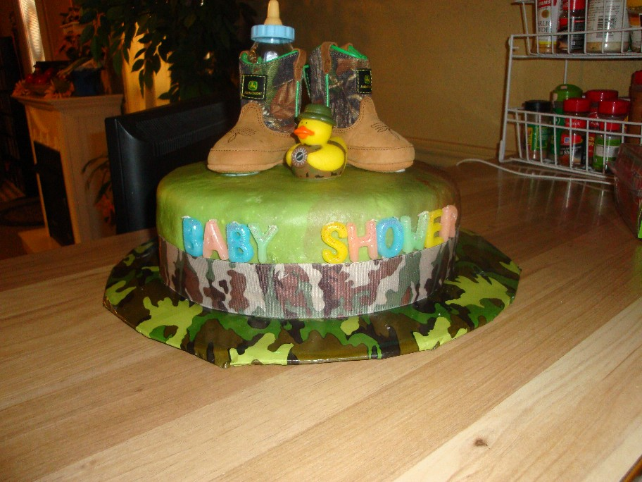 happy cakes camo baby shower cake