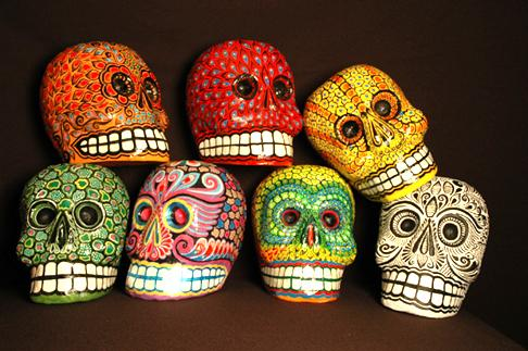 day of dead skull. The Day of the Dead (observed