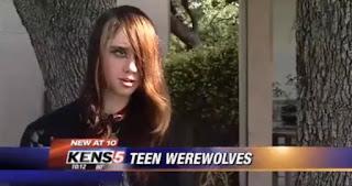 Mujer de manada de lobos