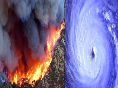 huracanes y Fuegos