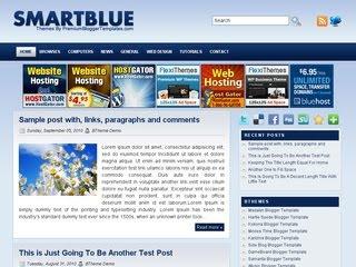 Smart Blue Blogger Template