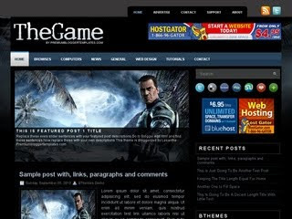 TheGame Blogger Template