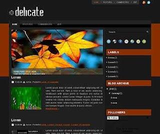 Delicate Blogger Template