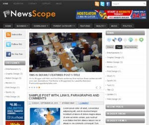 News Scope Blogger Template