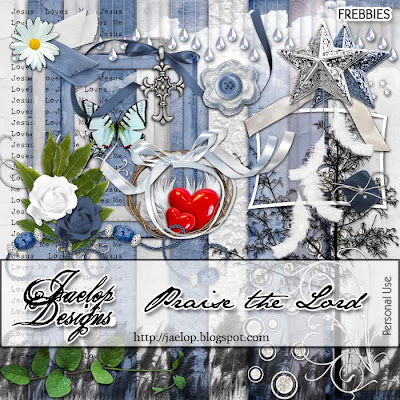 "Scrapbook Freebie ""Praise the Lord"" from Jaelop Designs"