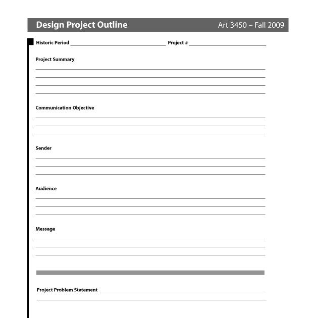 Big D: Larry: Design Brief Template