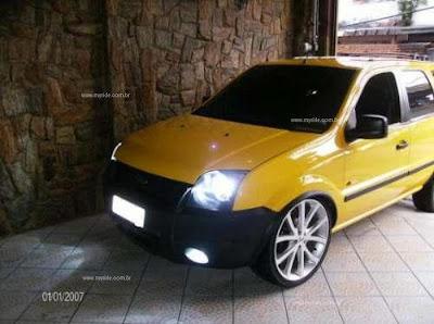 ecosport tunado ford amarelo rodas aro 20 rebaixado