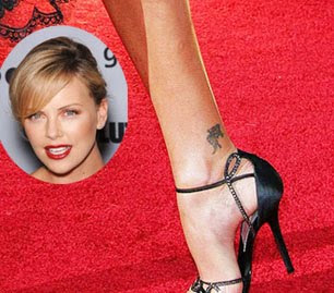 charlize theron tattoo