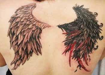 angel devil tattoo images