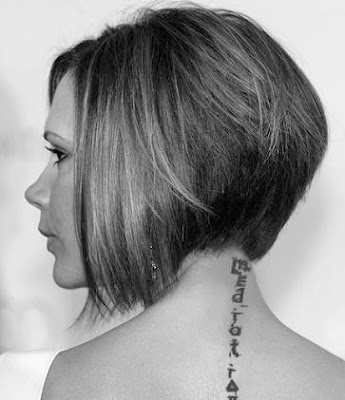 victoria beckham tattoo neck meaning