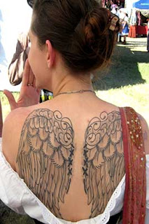 image of angel wing tattoo