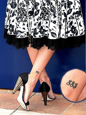 Penelope cruz lucky number tattoo. Posted by tattoo art at 2:39 AM