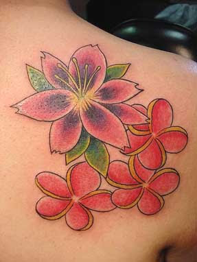 Female Tattoos With Image Hawaiian Flower Tattoo Design Picture 7