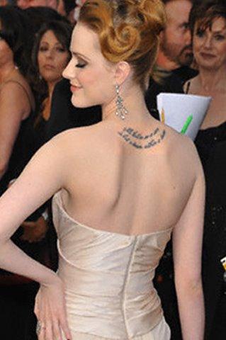 Evan Rachel Wood tattoo