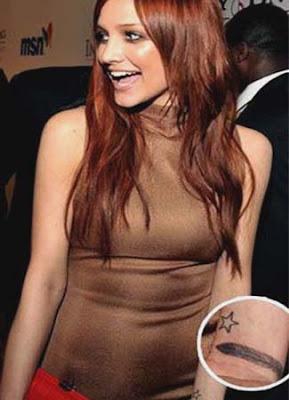 picture of ashlee simpson wrist tattoo