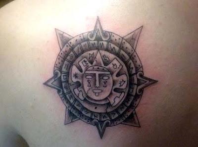 aztec sun tattoo image
