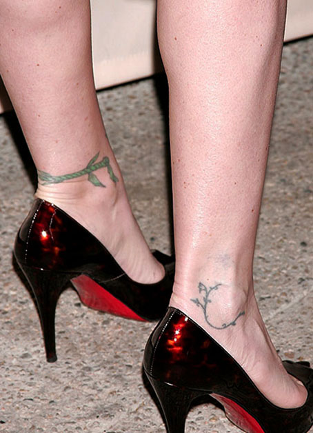 Christina Applegate ankle tattoo designs
