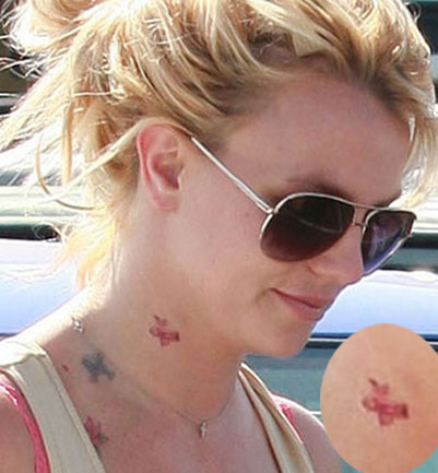 britney spears new neck tattoos